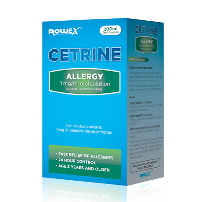 CETRINE ALLERGY SOLUTION 1MG/ML 200ML