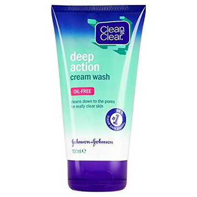 CLEAN & CLEAR DEEP CLEANSING CREAM WASH 150ML