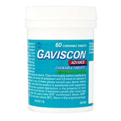 GAVISCON ADVANCE CHEWABLE TABLETS 60'S