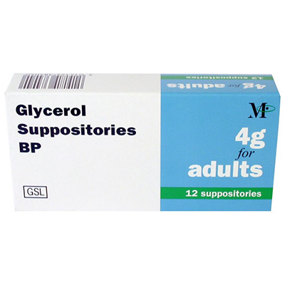 GLYCEROL SUPPOSITORIES BP FOR ADULTS 4G