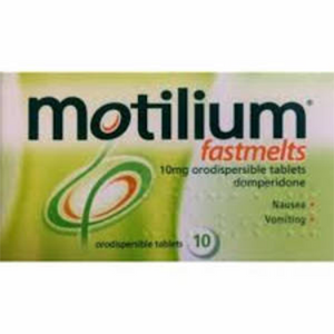 MOTILIUM FASTMELTS 10MG DOMPERIDONE 10'S
