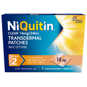 NIQUITIN CQ 14MG CLEAR PATCHES STEP 2 (7'S)