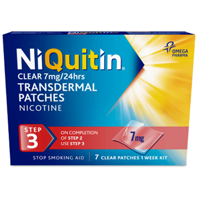 NIQUITIN CQ 7MG CLEAR PATCHES STEP 3 (7'S)
