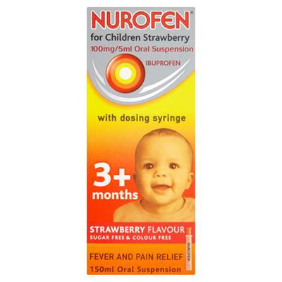 NUROFEN FOR CHILDREN 3+ W/ SYRINGE 150 ML
