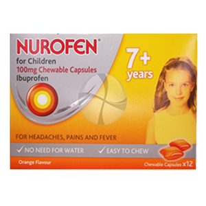 NUROFEN FOR CHILDREN 7YRS+ CHEWABLE CAPSULES