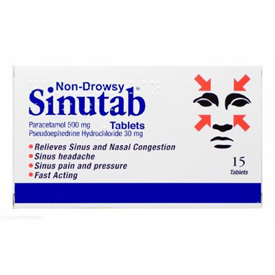 SINUTAB NON-DROWSY DECONGESTANT TABLETS 15'S