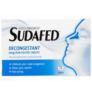 SUDAFED NON DROWSY DECONGESTANT TABLETS