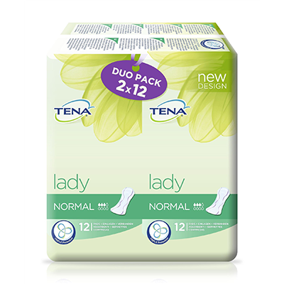 TENA LADY NORMAL DUO-PACK 2X12