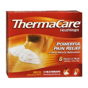 THERMACARE HEATWRAPS NECK,SHOULDER,WRIST 3'S