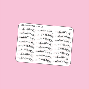 "WA006 - ""chemotherapy""  - Word Stickers"