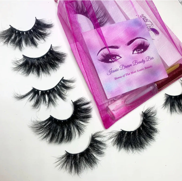 Luxury strip lashes, easily applied and comfortable for all day wear!