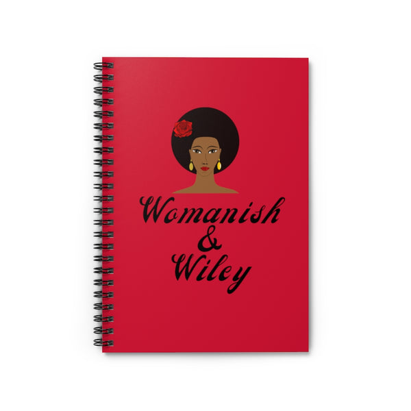 Womanish & Wiley Spiral Notebook - Ruled Line