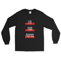 Live Your Purpose Unisex Long Sleeve Shirt Black & Red