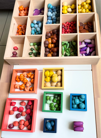TickiT Wooden Treasures - Colour Sorting