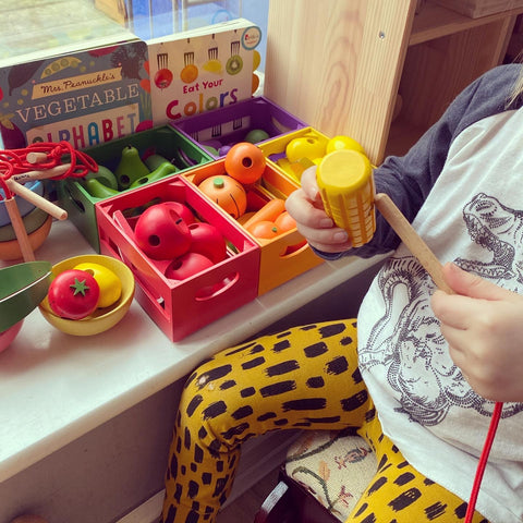 TickiT Wooden Sorting Fruit and Vegetable Crates