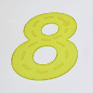 SiliShapes® Trace Numbers Yellow