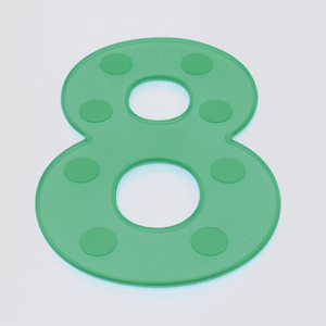SiliShapes® Dot Numbers Green