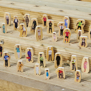 Wooden Community People Blocks