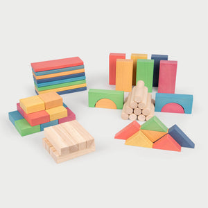 Rainbow Wooden Jumbo Block Set