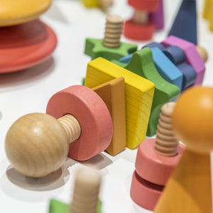 Rainbow Wooden Shape Twister