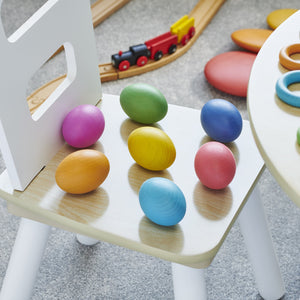 Rainbow Wooden Eggs