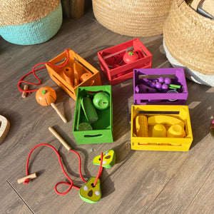 Wooden Sorting Fruit & Vegetable Crates
