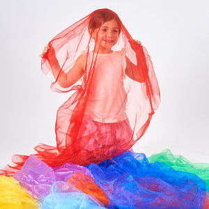 Rainbow Organza Fabric