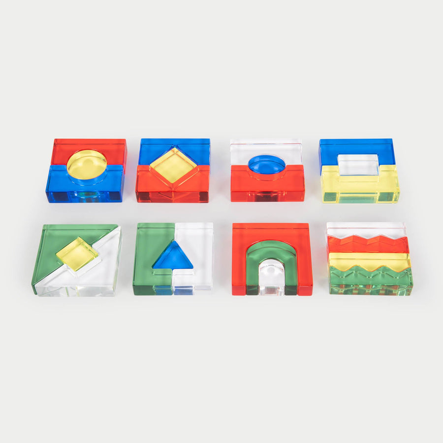 Colour Acrylic Block Set