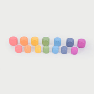Rainbow Wooden Cubes
