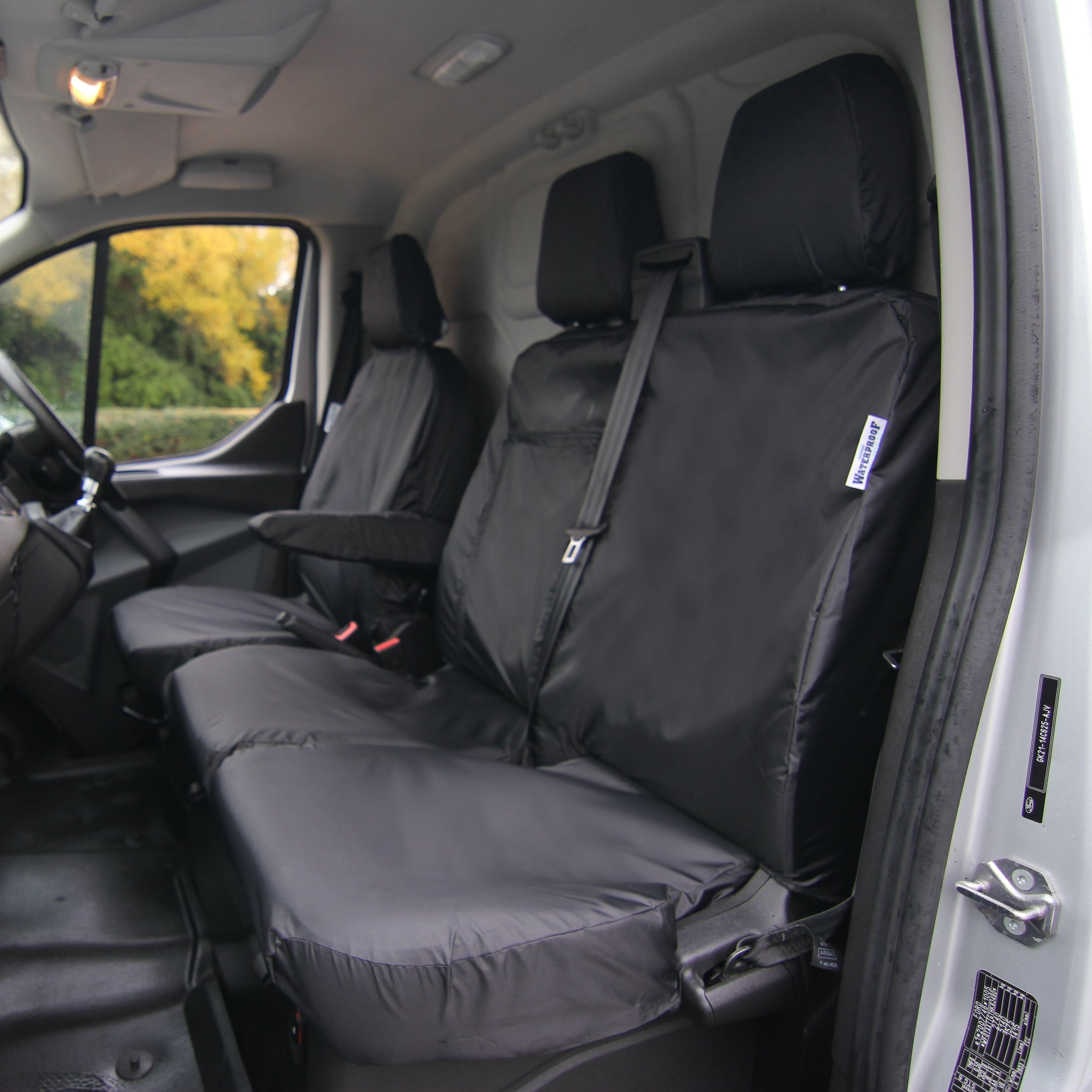 FORD TRANSIT CUSTOM 2020 TAILORED VAN SEAT COVERS GREEN CAMOUFLAGE HEAVYDUTY
