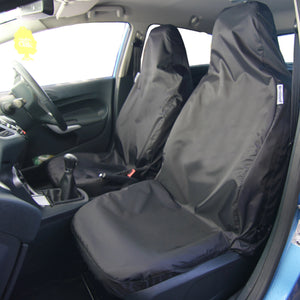 Peugeot 206 Van 2 x Fronts H Duty Black Waterproof Seat Covers//Protectors