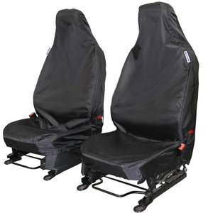 Tailored Waterproof Black Front Single /& Double Seat Covers Citroen Relay 2006