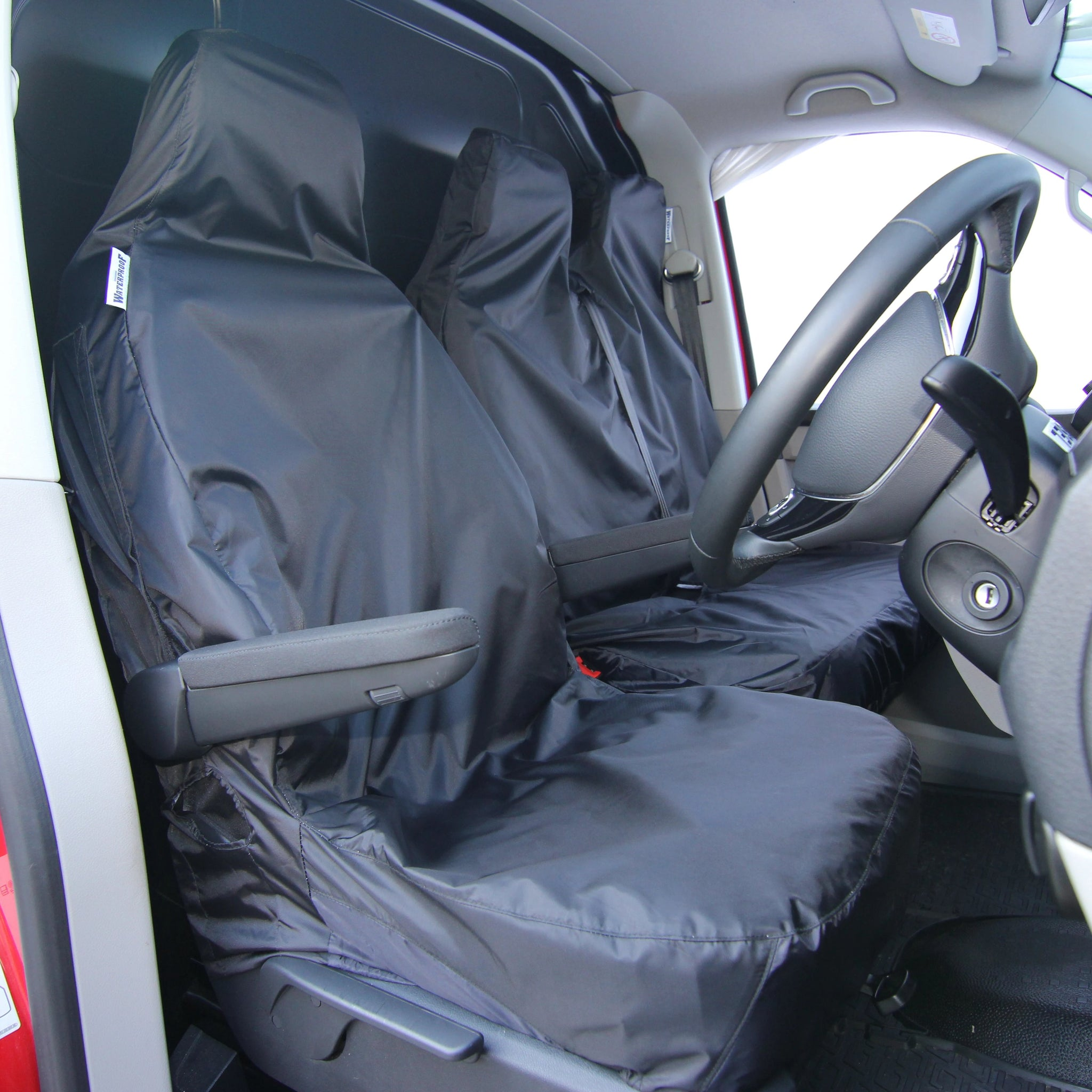PREMIUM QUALITY H Land Rover Discovery DUTY BLACK WATERPROOF SINGLE SEAT COVER