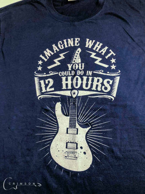 Merch 12 Hour Design t-shirt Navy