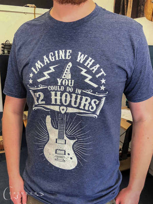 Merch 12 Hour Design t-shirt Heather Navy