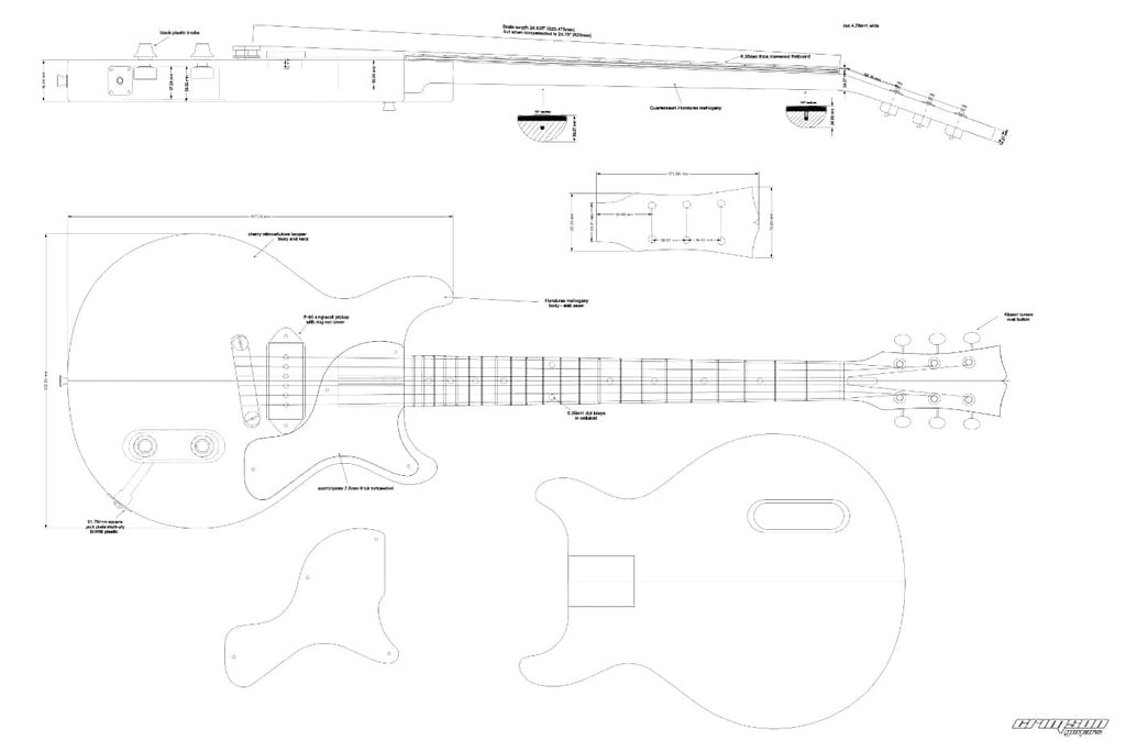 Guitar Plans - 59 LP-type Jr Double Cut