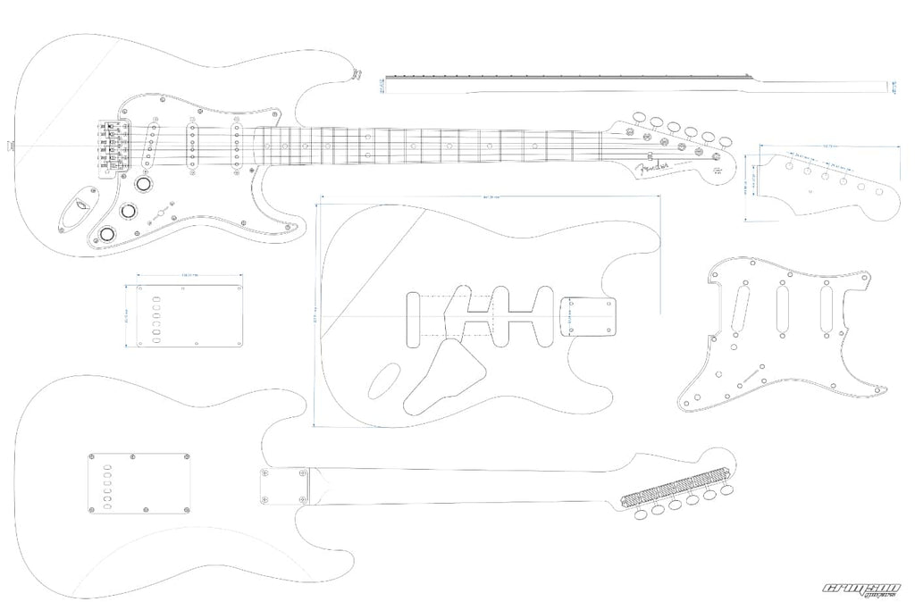 Guitar Plans - 60's S-type