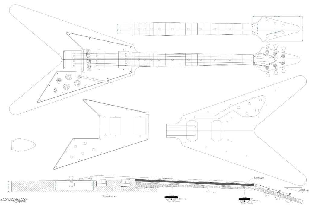 Guitar Plans - 67 Flying V-type