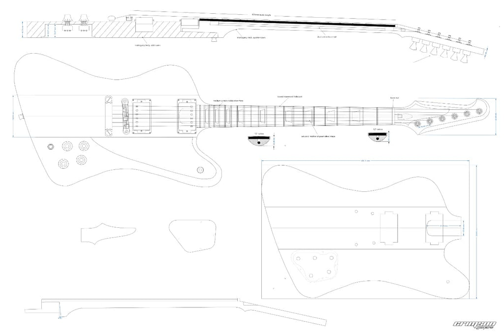 Guitar Plans - Firebird-type