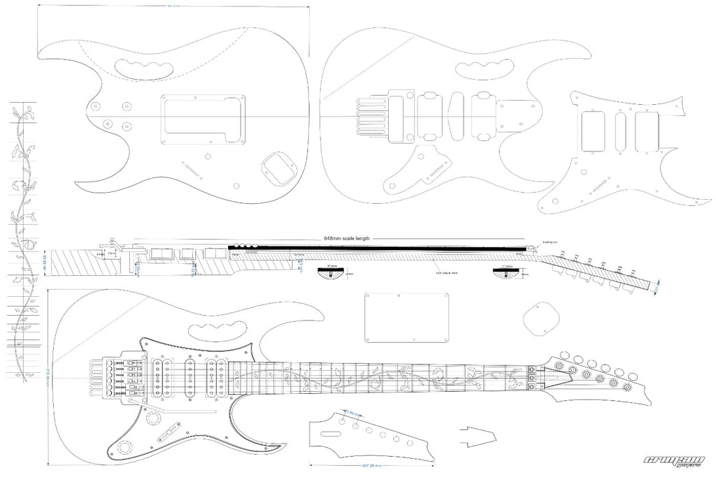 Guitar Plans - Ibanez-type JEM