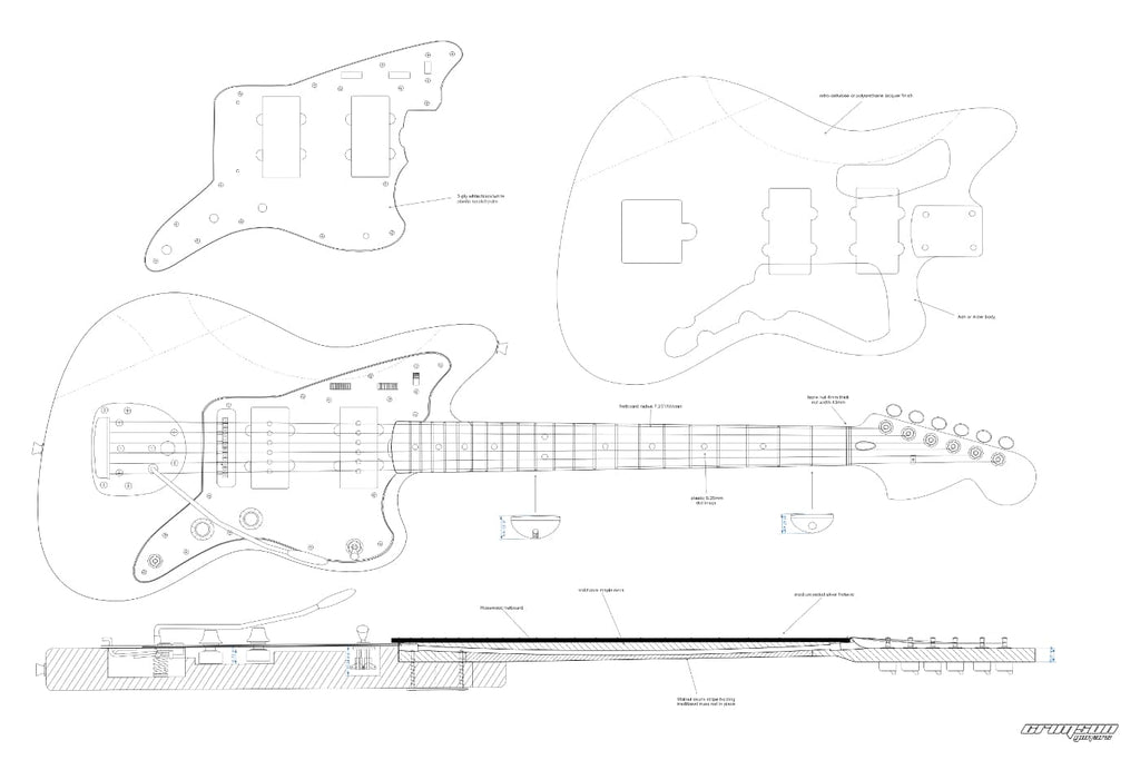 Guitar Plans - Jazzmaster-type Longscale