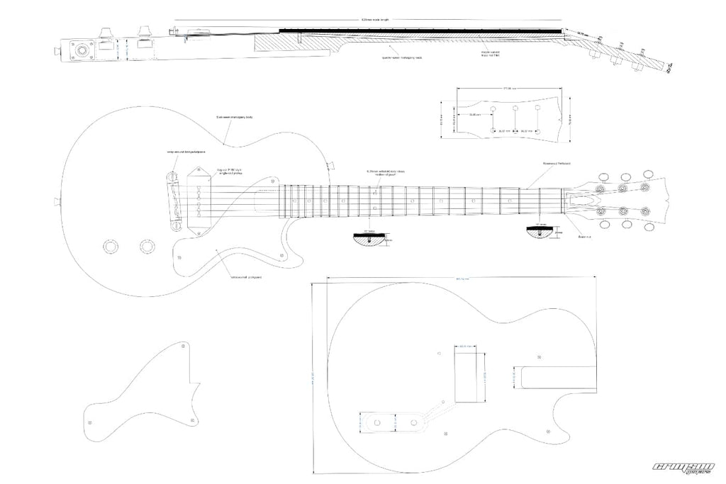 Guitar Plans - LP-type Jr Single Cut