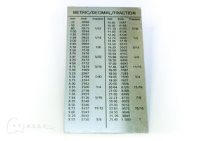 String Action Gauge - Metric Conversion Chart