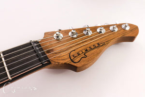 Burnt Copper Rodded PR0119 Headstock Front
