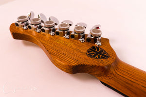 Burnt Copper Rodded PR0120 Headstock Back
