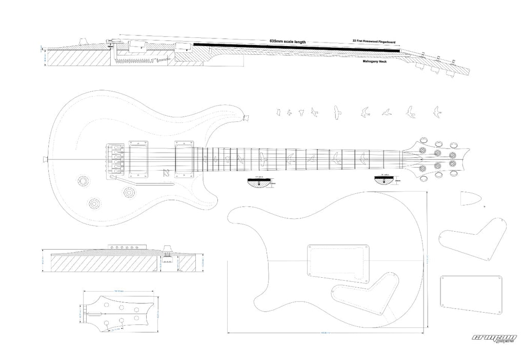 Guitar Plans - PRS-type Custom 22