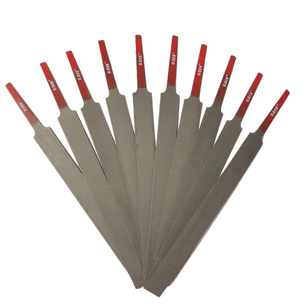 Nut Slotting File - Set of 10