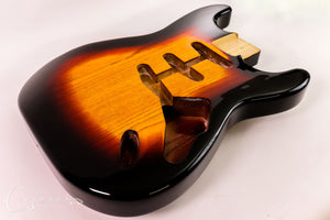 Kit Guitar S-style Three-Tone-Burst Gloss Finish Front