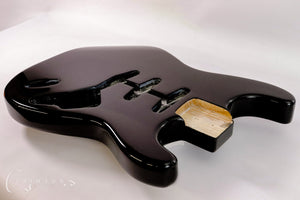 Kit Guitar S-style Black Gloss Finish Front