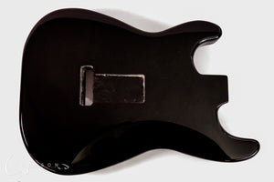 Kit Guitar S-style Black Gloss Finish Back with Trem